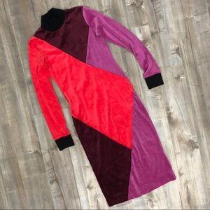 Splendid x Margherita colorblock velour dress